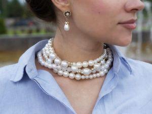 Самый лучший способ носить жемчужное ожерелье. Ярмарка Мастеров - ручная работа, handmade.