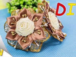 Видео мастер-класс: резиночки «Капучино» с розами. Ярмарка Мастеров - ручная работа, handmade.