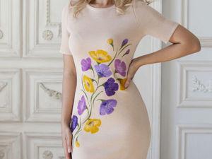 Видео-ролик, платье  «Мелодия живых цветов». Ярмарка Мастеров - ручная работа, handmade.