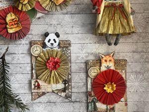 Набор  «Новогодние зверята». Ярмарка Мастеров - ручная работа, handmade.