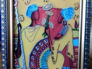 Альтернативный способ создания рисунка на стекле. Ярмарка Мастеров - ручная работа, handmade.