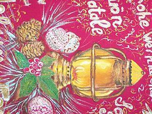Видео мастер-класс: роспись текстильной салфетки новогодним сюжетом. Ярмарка Мастеров - ручная работа, handmade.