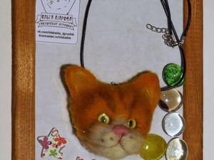 Валяем подвеску котомордочку из шерсти. Часть 2. Ярмарка Мастеров - ручная работа, handmade.