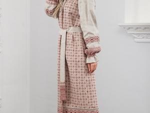 Платье Льняное Берегиня. Ярмарка Мастеров - ручная работа, handmade.