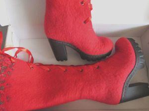 Летняя скидка на зимнюю обувь до 1 июля. Ярмарка Мастеров - ручная работа, handmade.