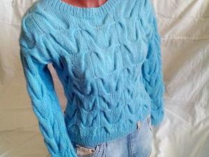 Укороченный свитер всего за 3760руб. Ярмарка Мастеров - ручная работа, handmade.