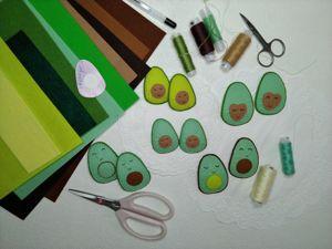 Заколочки для волос «Авокадо». Творим с детьми. Ярмарка Мастеров - ручная работа, handmade.