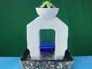 Создаем мини фонтан из цемента с горшком и светодиодной подсветкой!. Ярмарка Мастеров - ручная работа, handmade.