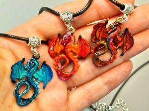 Перламутровые дракончики – Океанэль, Ауриэль и Санситэль – фэнтези кулоны. Ярмарка Мастеров - ручная работа, handmade.
