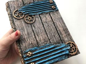 Блокнот из картона/ имитация дерева своими руками. Ярмарка Мастеров - ручная работа, handmade.