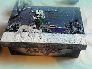 Видео мастер-класс: создаем новогодний декор чайной коробки. Ярмарка Мастеров - ручная работа, handmade.