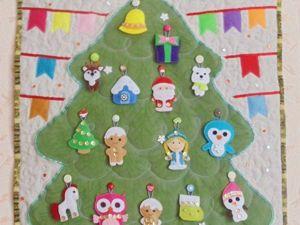 Делаем текстильную ёлочку с игрушками из фетра. Ярмарка Мастеров - ручная работа, handmade.