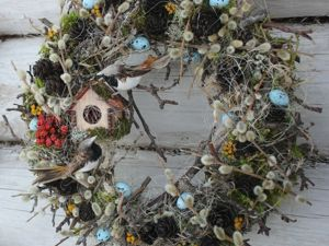 How to Make an Easter Wreath from Natural Materials and Dried Flowers. Livemaster - handmade