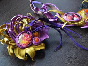 Украшение для волос  «Сказание о золотом драконе». Ярмарка Мастеров - ручная работа, handmade.
