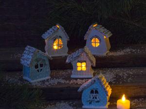 Мастерим новогодний домик-светильник. Ярмарка Мастеров - ручная работа, handmade.