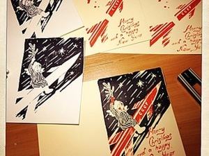 Мастер класс по ручной печати открыток. Ярмарка Мастеров - ручная работа, handmade.