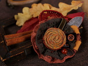 Symphony of Autumn Leaves: Creating a Textile Brooch. Livemaster - hecho a mano - handmade.