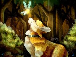 Корги — любимые собаки и скакуны эльфов, а вовсе не королевы Английской. Ярмарка Мастеров - ручная работа, handmade.