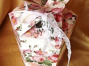 Быстро и легко! Весенняя цветочная коробочка. Ярмарка Мастеров - ручная работа, handmade.