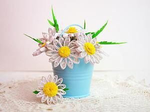 Creating a Sweet Quilling Daisy Bouquet. Livemaster - handmade