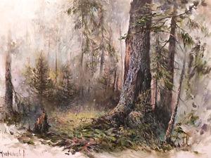 Мастер-класс по живописи «Лесной этюд». Ярмарка Мастеров - ручная работа, handmade.