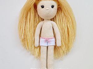 Делаем волосы вязаной кукле. Ярмарка Мастеров - ручная работа, handmade.