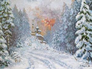 Зима к концу — 15% Скидки на зимние пейзажи!. Ярмарка Мастеров - ручная работа, handmade.