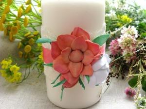 Декорируем свечу для семейного очага цветами из фоамирана. Ярмарка Мастеров - ручная работа, handmade.