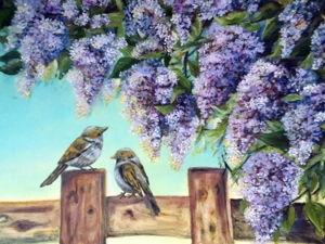 Картина  «С добрым утром». Ярмарка Мастеров - ручная работа, handmade.