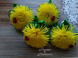 Foamiran Dandelions. Livemaster - handmade