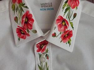 Фольк-модерн: роспись рубахи. Ярмарка Мастеров - ручная работа, handmade.