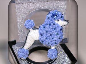 Мастер-класс по вышивке синелью «Пудель». Ярмарка Мастеров - ручная работа, handmade.