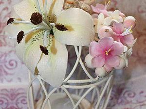 Лепка лилии из холодного фарфора. Ярмарка Мастеров - ручная работа, handmade.