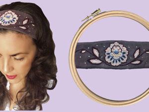 Шьём и украшаем вышивкой повязку на голову. Ярмарка Мастеров - ручная работа, handmade.