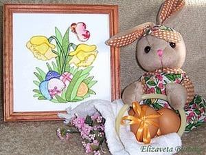 Пэчворк без иглы: изготовление пасхальной картины из лоскутков. Ярмарка Мастеров - ручная работа, handmade.