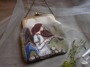 Сумочка с вышитым ангелом по картине Джона Уотерхауса. Ярмарка Мастеров - ручная работа, handmade.