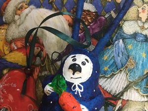 Создаем новогоднего зайку из ваты. Ярмарка Мастеров - ручная работа, handmade.
