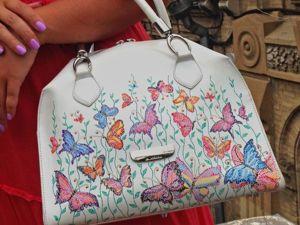 Новая жизнь старой сумки, или Точечная роспись в деле. Ярмарка Мастеров - ручная работа, handmade.