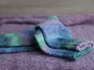Носочки Акварельное небо. Ярмарка Мастеров - ручная работа, handmade.