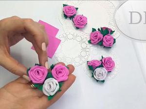 Создаем розы из фоамирана без шаблона. Ярмарка Мастеров - ручная работа, handmade.