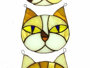 Витражные котики-подвески в процессе производства. Ярмарка Мастеров - ручная работа, handmade.