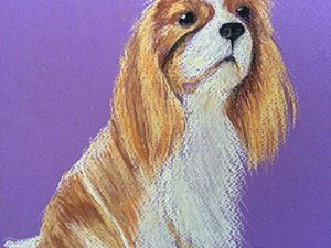 Drawing a Nice Doggie with Pastel for 30 Minutes. Livemaster - hecho a mano - handmade.