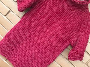 Вяжем простой свитер спицами. Ярмарка Мастеров - ручная работа, handmade.