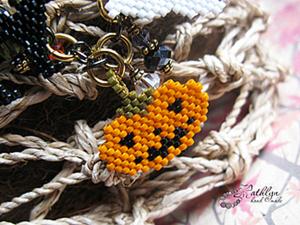 """Схемы подвесок из бисера для браслета """"Хэллоуин"""". Ярмарка Мастеров - ручная работа, handmade."""