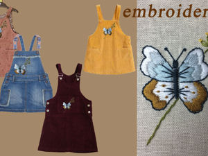 Вышивка гладью на одежде: «Бабочка». Ярмарка Мастеров - ручная работа, handmade.