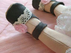 Делаем туфельки для текстильной куклы. Ярмарка Мастеров - ручная работа, handmade.