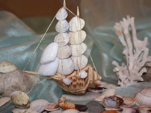 Мастерим кораблик из морских ракушек. Ярмарка Мастеров - ручная работа, handmade.