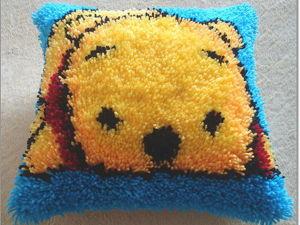 Вышиваем  легко и просто уютную подушку в ковровой технике. Ярмарка Мастеров - ручная работа, handmade.