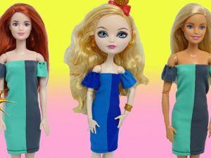 Как сшить простое платье для кукол без выкройки. Ярмарка Мастеров - ручная работа, handmade.