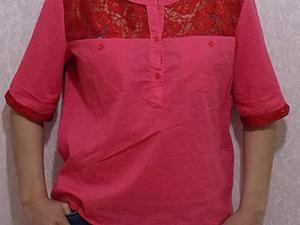 Переделываем рубашку с помощью кружева. Ярмарка Мастеров - ручная работа, handmade.